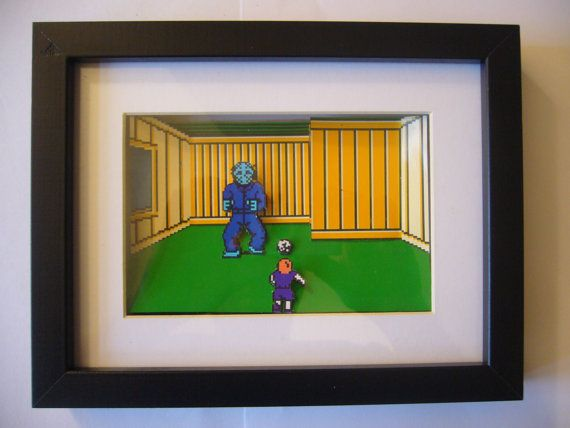 Friday the 13th NES 3D Diorama Shadow Box