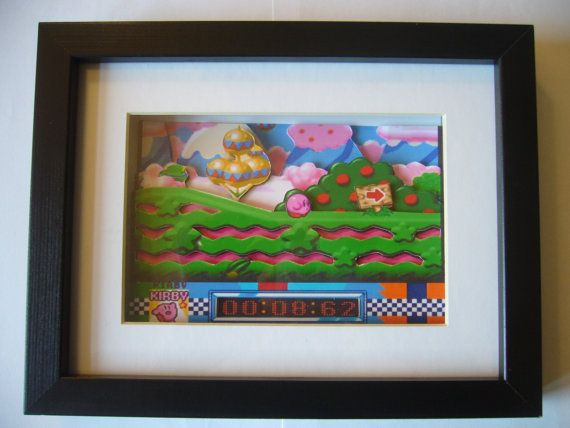 Kirby Super Star 3D Diorama Shadow Box