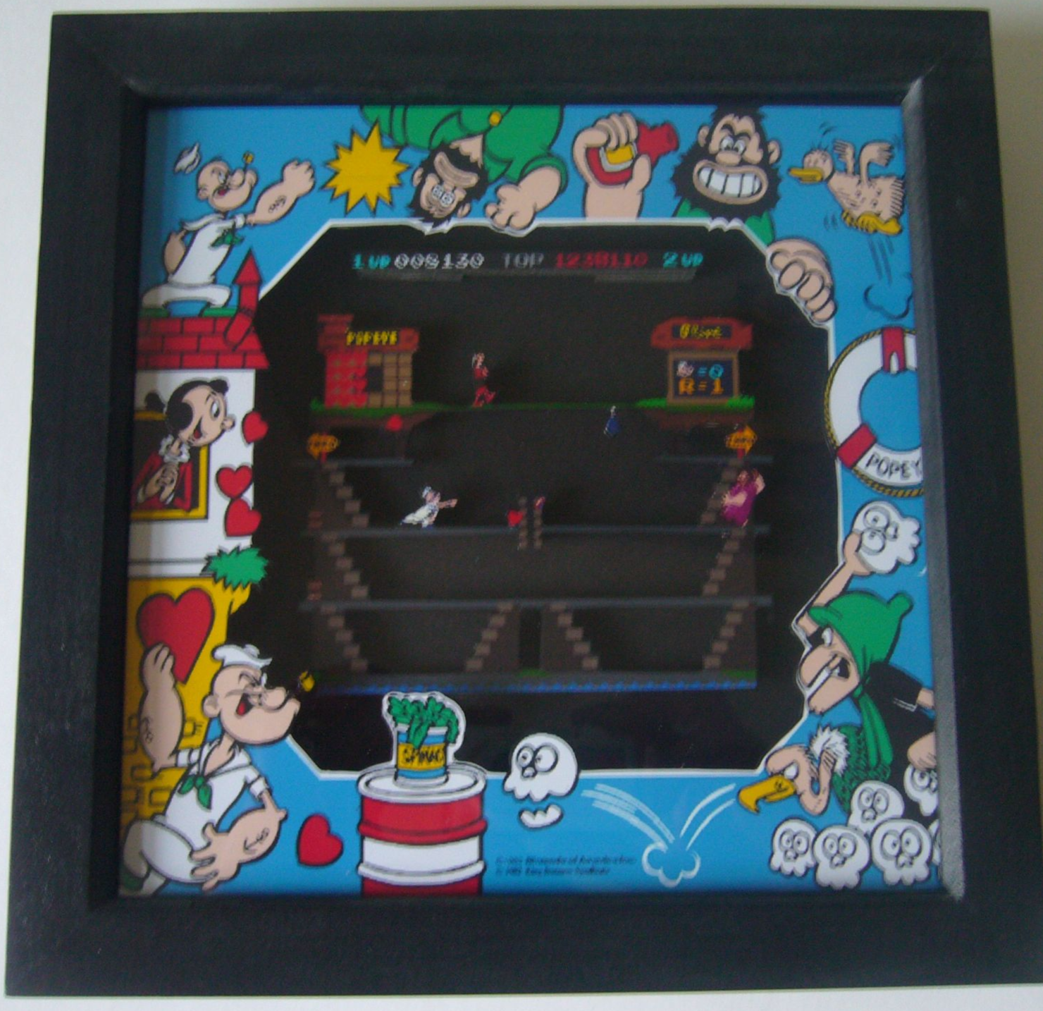 POPEYE Arcade Screen  3D Diorama Shadow Box