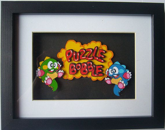 Puzzle Bobble  3D Diorama Shadow Box