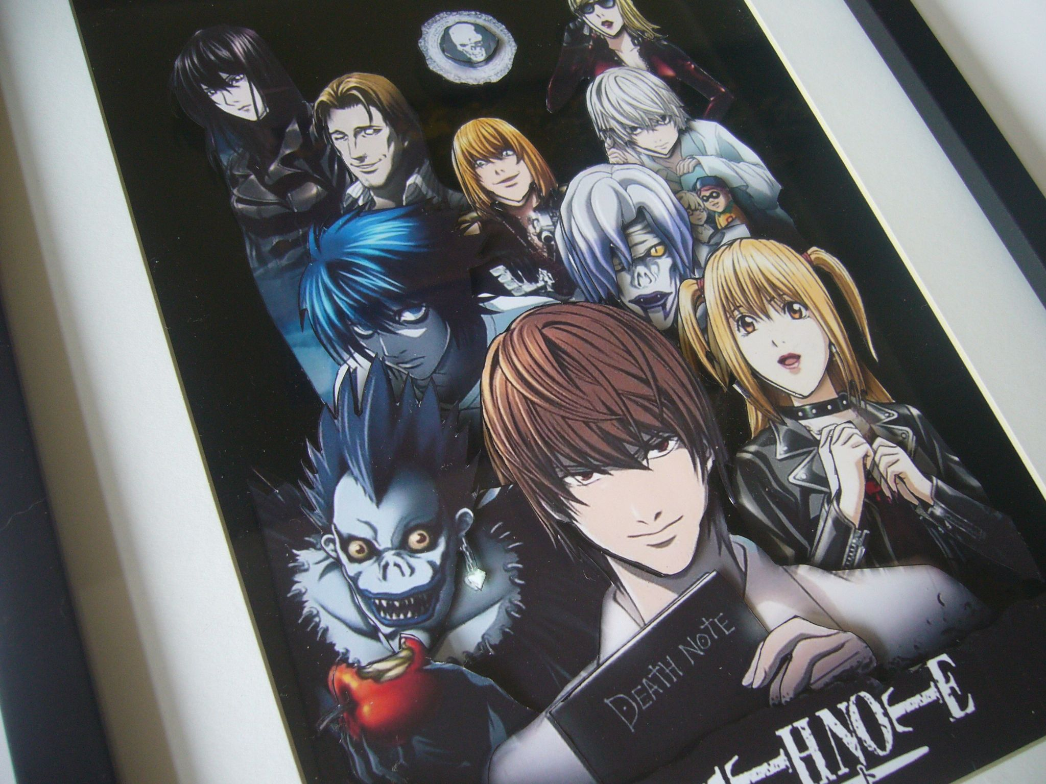 Death note anime 3d art shadow box