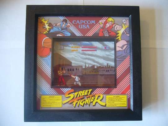 STREET FIGHTER Arcade Screen  3D Diorama Shadow Box